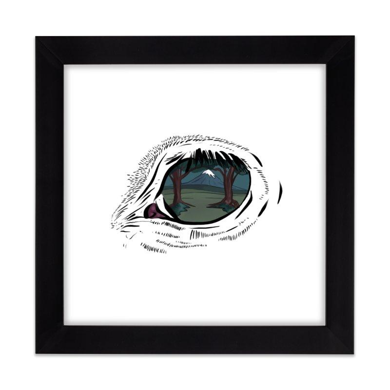 Unicorn Eye Home Framed Fine Art Print by Unigon Pics Delicious Merch Shoppe