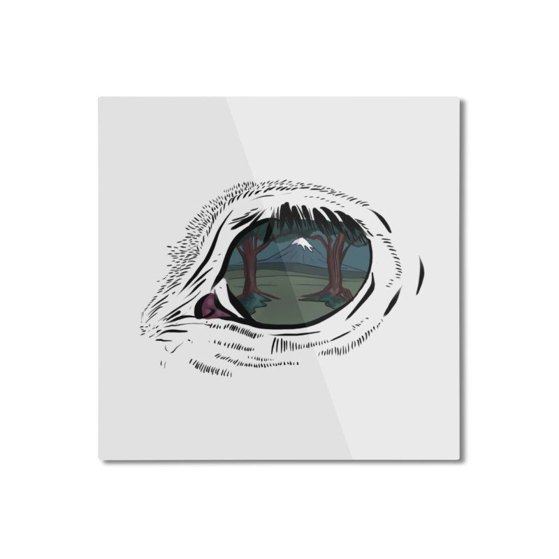 Unicorn Eye Home Mounted Aluminum Print by Unigon Pics Delicious Merch Shoppe