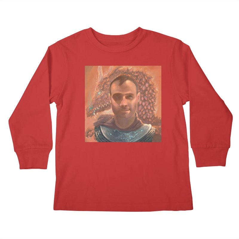 Dragon Warden Kids Longsleeve T-Shirt by Unigon Pics Delicious Merch Shoppe