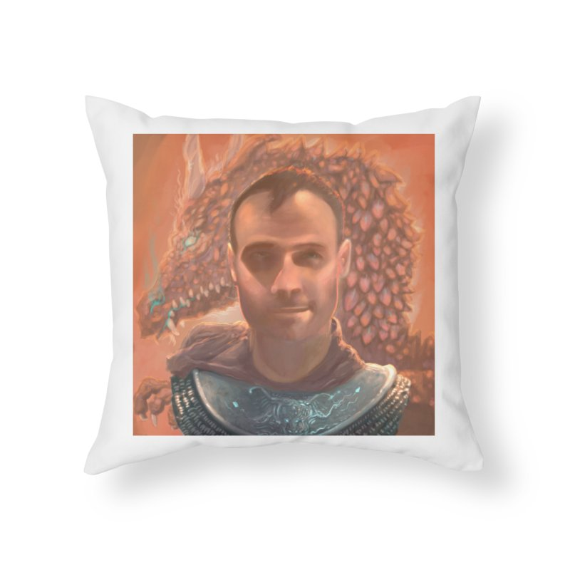 Dragon Warden Home Throw Pillow by Unigon Pics Delicious Merch Shoppe