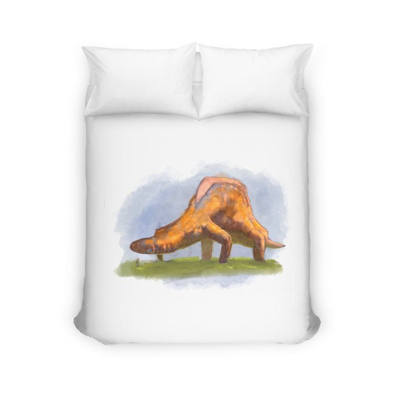 Hello, friend! Home Duvet by Unigon Pics Delicious Merch Shoppe