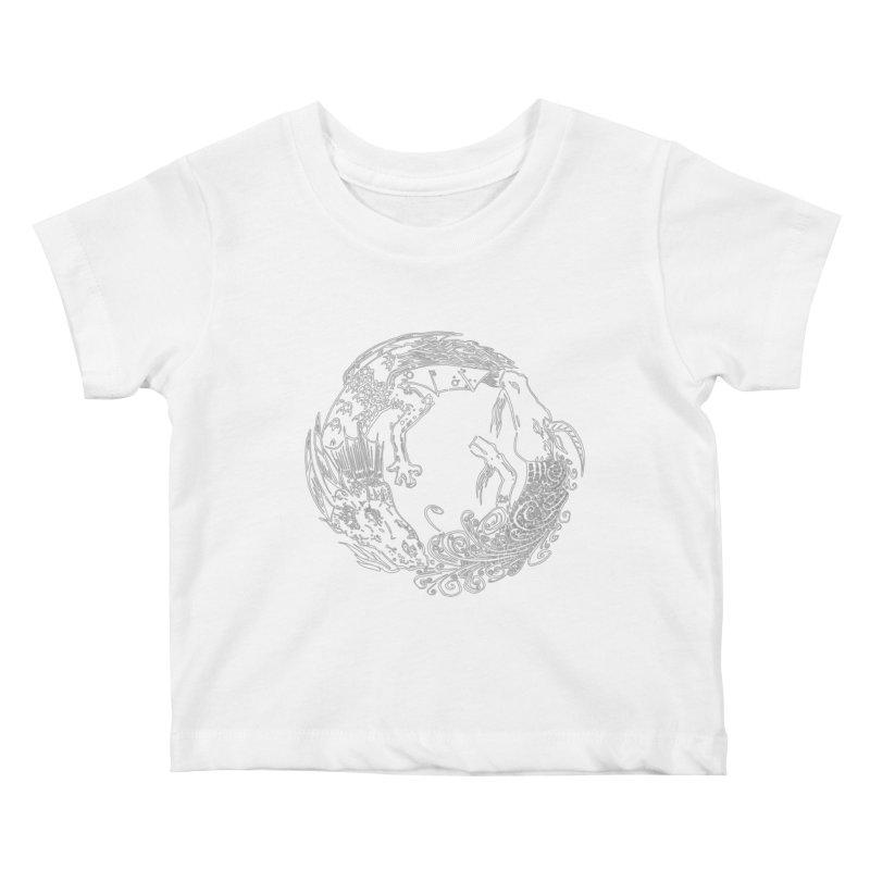 Unigon Logo, Lite Kids Baby T-Shirt by Unigon Pics Delicious Merch Shoppe