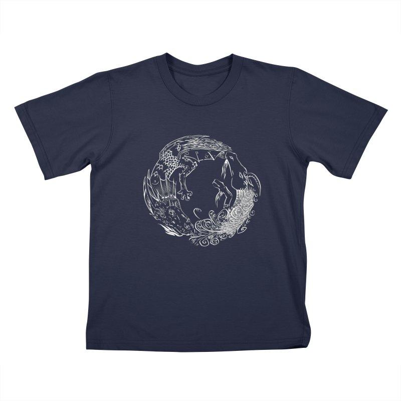 Unigon Logo, Lite Kids T-Shirt by Unigon Pics Delicious Merch Shoppe