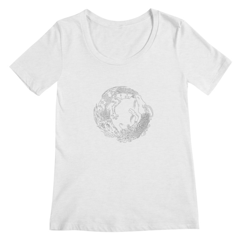Unigon Logo, Lite Women's Regular Scoop Neck by Unigon Pics Delicious Merch Shoppe