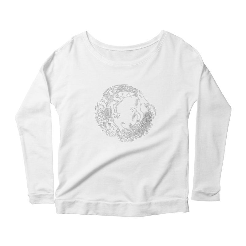 Unigon Logo, Lite Women's Scoop Neck Longsleeve T-Shirt by Unigon Pics Delicious Merch Shoppe