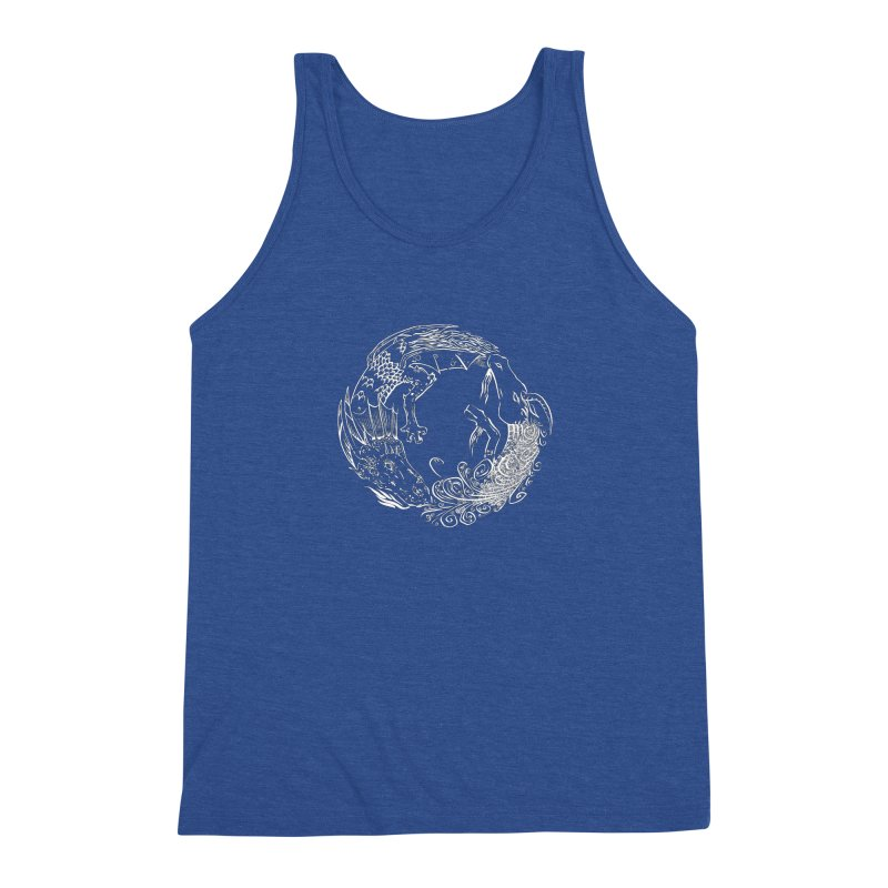Unigon Logo, Lite Men's Triblend Tank by Unigon Pics Delicious Merch Shoppe
