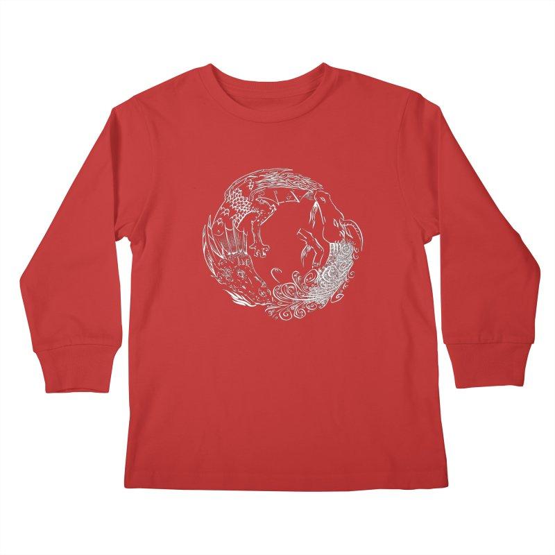 Unigon Logo, Lite Kids Longsleeve T-Shirt by Unigon Pics Delicious Merch Shoppe