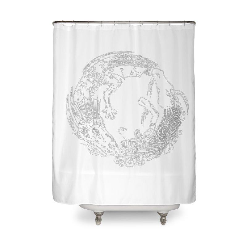 Unigon Logo, Lite Home Shower Curtain by Unigon Pics Delicious Merch Shoppe