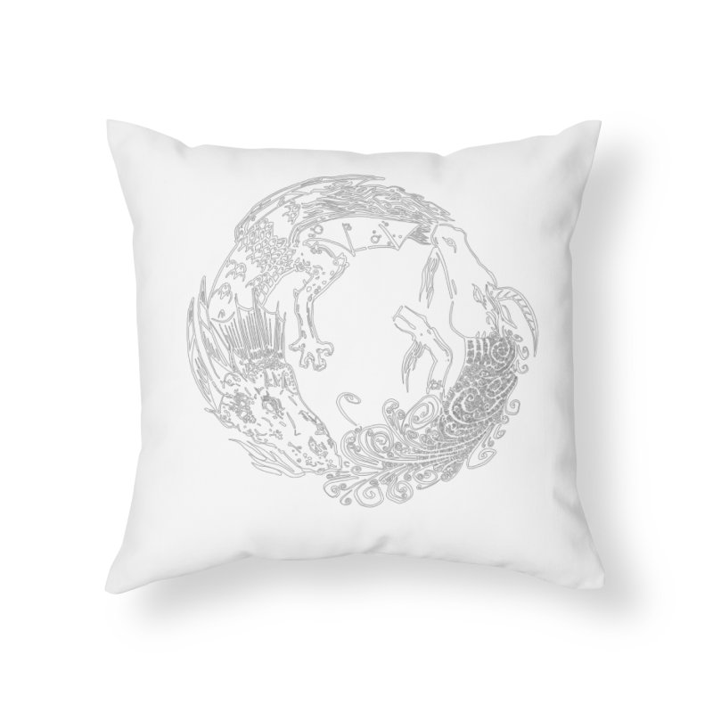 Unigon Logo, Lite Home Throw Pillow by Unigon Pics Delicious Merch Shoppe