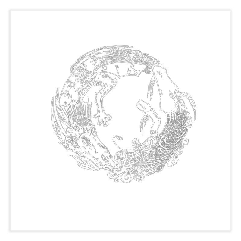 Unigon Logo, Lite Home Fine Art Print by Unigon Pics Delicious Merch Shoppe