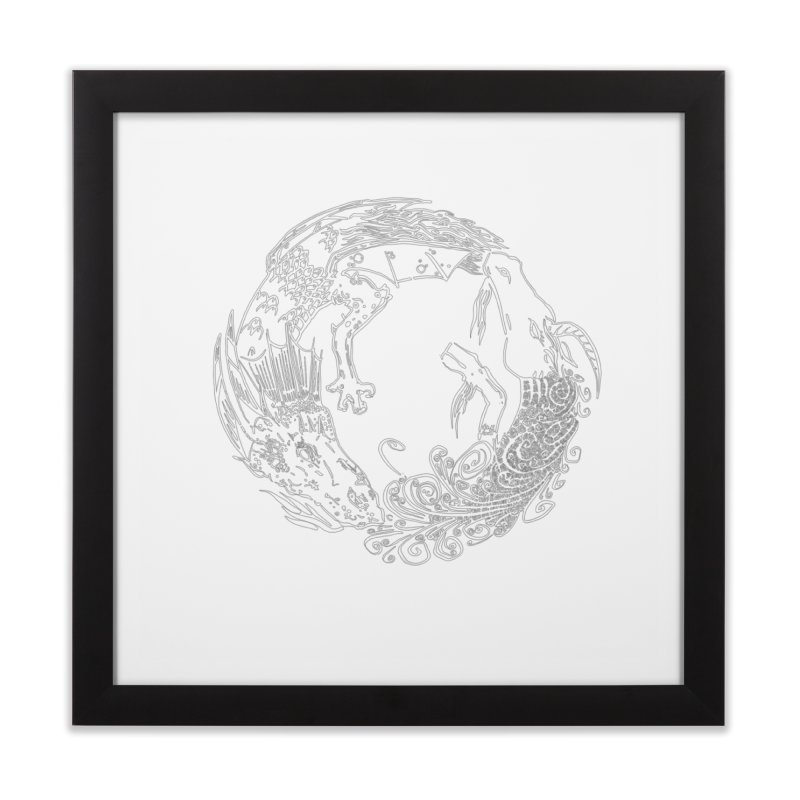 Unigon Logo, Lite Home Framed Fine Art Print by Unigon Pics Delicious Merch Shoppe