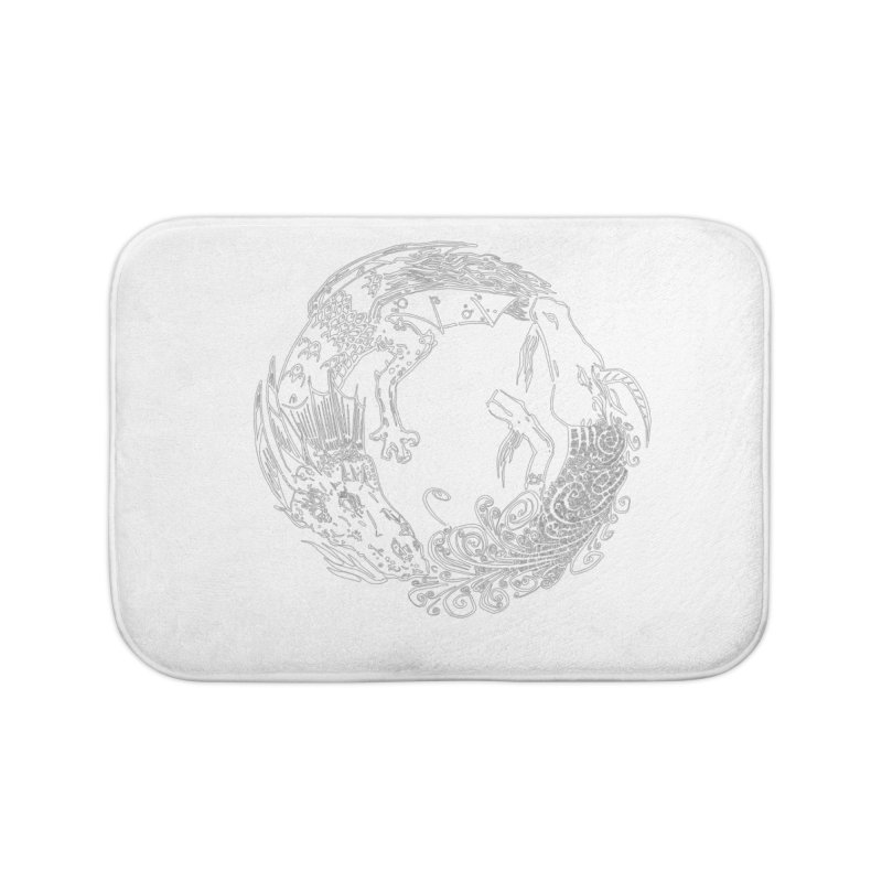 Unigon Logo, Lite Home Bath Mat by Unigon Pics Delicious Merch Shoppe