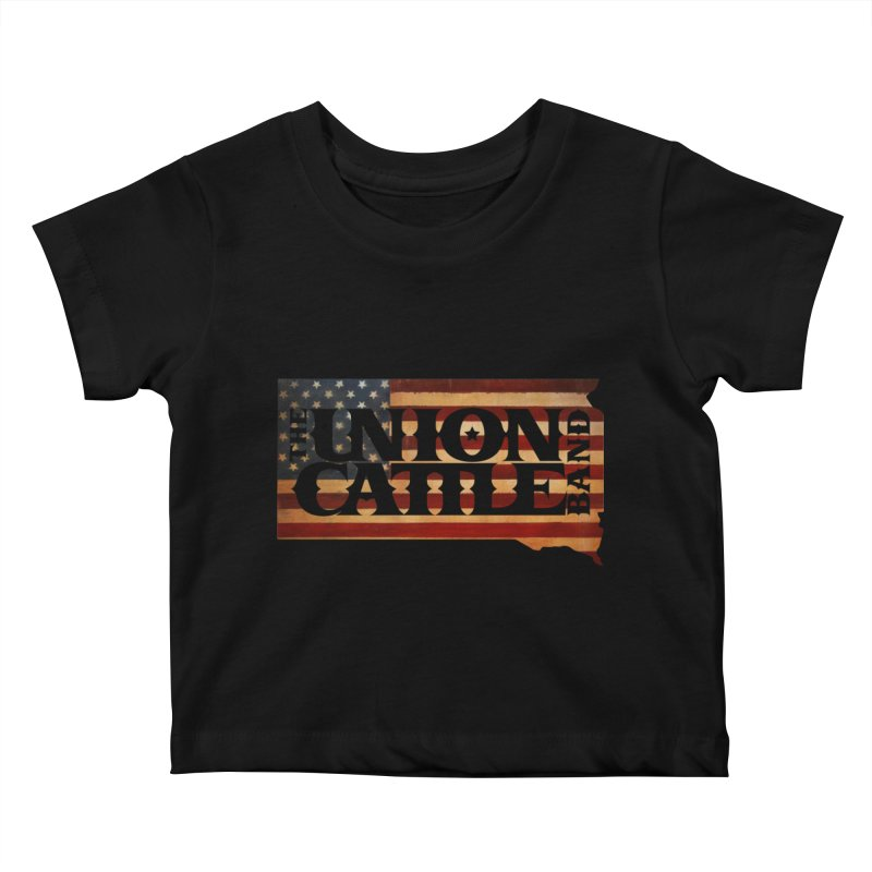 Patriotic State Logo Clothing Kids Baby T-Shirt by unioncattleband's Artist Shop