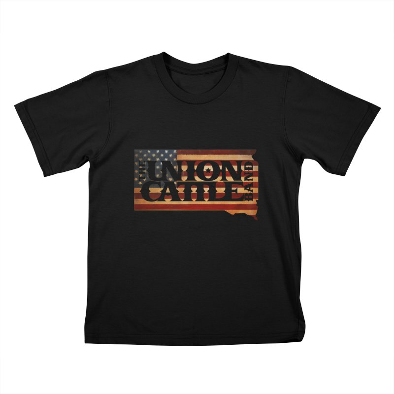 Patriotic State Logo Clothing Kids T-Shirt by unioncattleband's Artist Shop