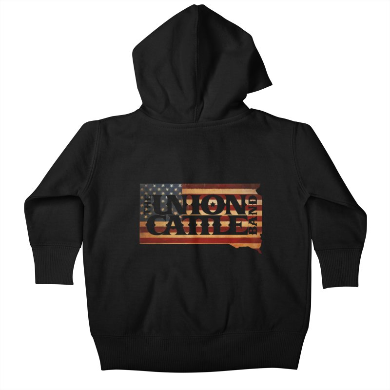 Patriotic State Logo Clothing Kids Baby Zip-Up Hoody by unioncattleband's Artist Shop