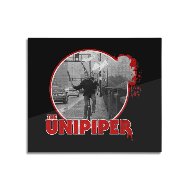Friday the 13th in Portland Home Mounted Aluminum Print by The Official Unipiper Shop