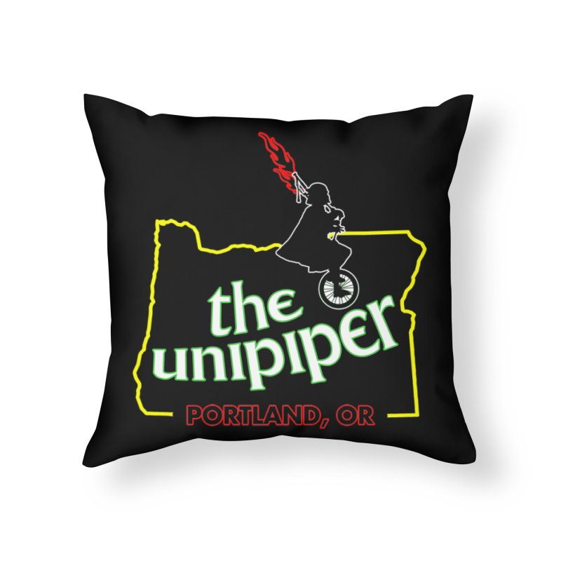 Home is Where The Unipiper Is Home Throw Pillow by The Official Unipiper Shop!