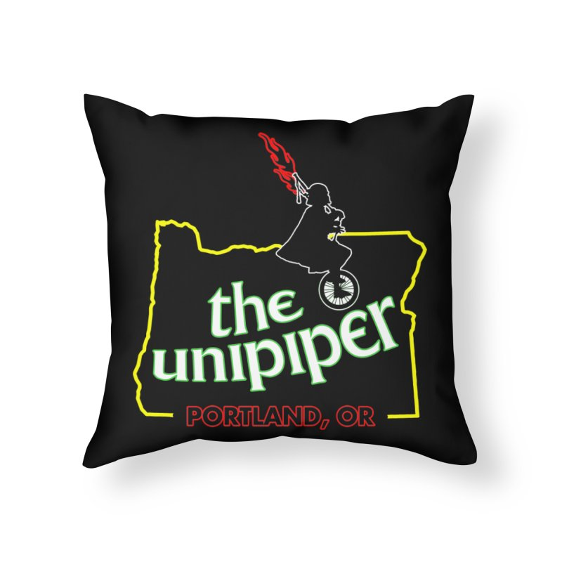 Home is Where The Unipiper Is Home Throw Pillow by The Official Unipiper Shop