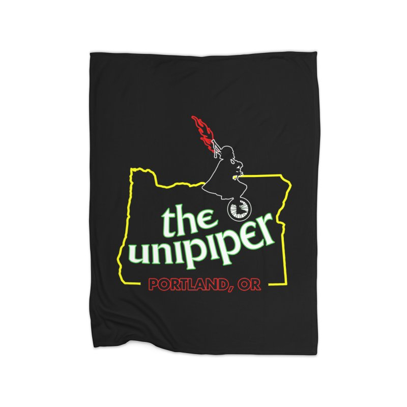 Home is Where The Unipiper Is Home Fleece Blanket Blanket by The Official Unipiper Shop!