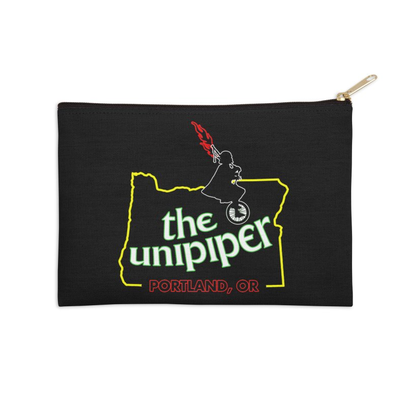 Home is Where The Unipiper Is Accessories Zip Pouch by The Official Unipiper Shop!
