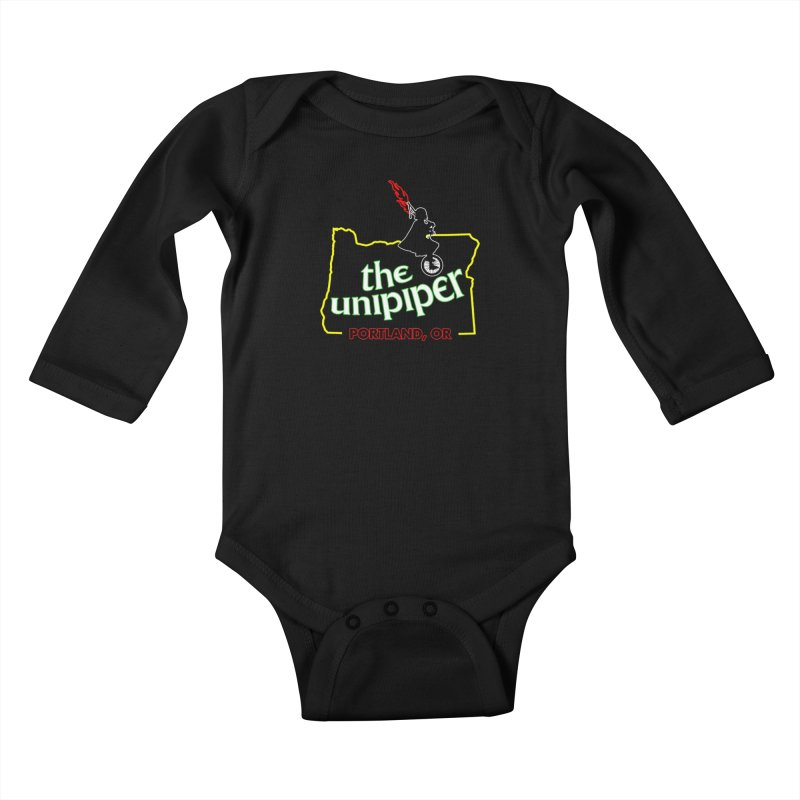 Home is Where The Unipiper Is Kids Baby Longsleeve Bodysuit by The Official Unipiper Shop!