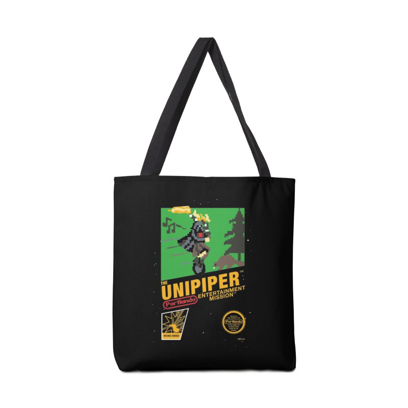 8-bit Retro Unipiper Accessories Tote Bag Bag by The Official Unipiper Shop!