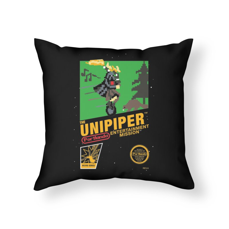 8-bit Retro Unipiper Home Throw Pillow by The Official Unipiper Shop!