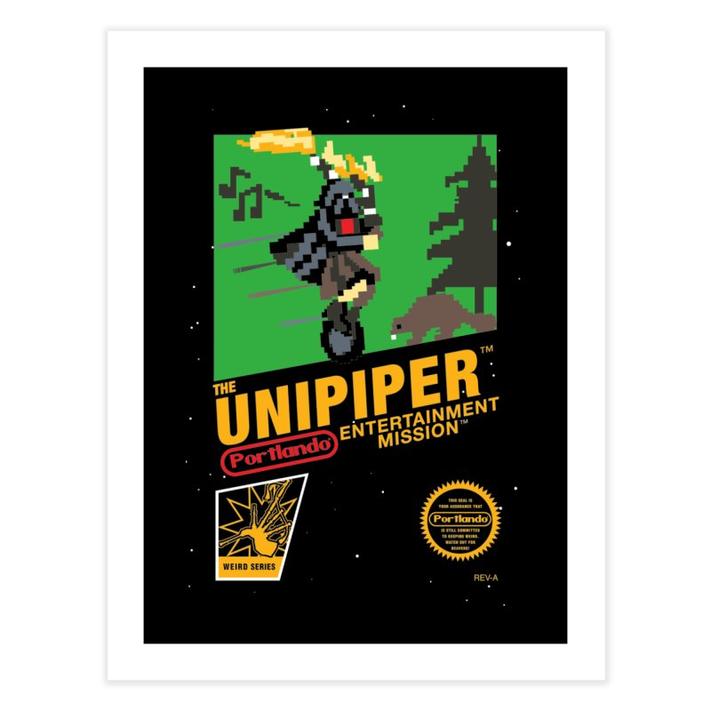 8-bit Retro Unipiper Home Fine Art Print by The Official Unipiper Shop!