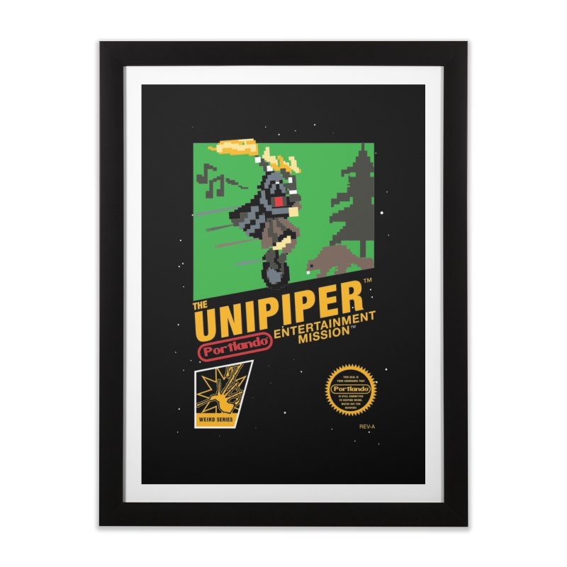 8-bit Retro Unipiper Home Framed Fine Art Print by The Official Unipiper Shop!