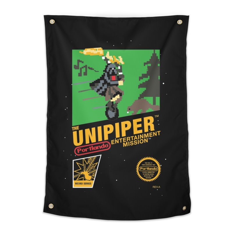 8-bit Retro Unipiper Home Tapestry by The Official Unipiper Shop!