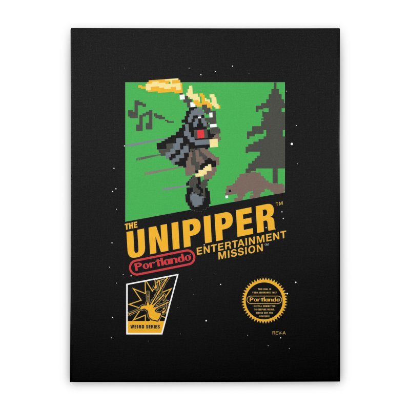 8-bit Retro Unipiper Home Stretched Canvas by The Official Unipiper Shop!