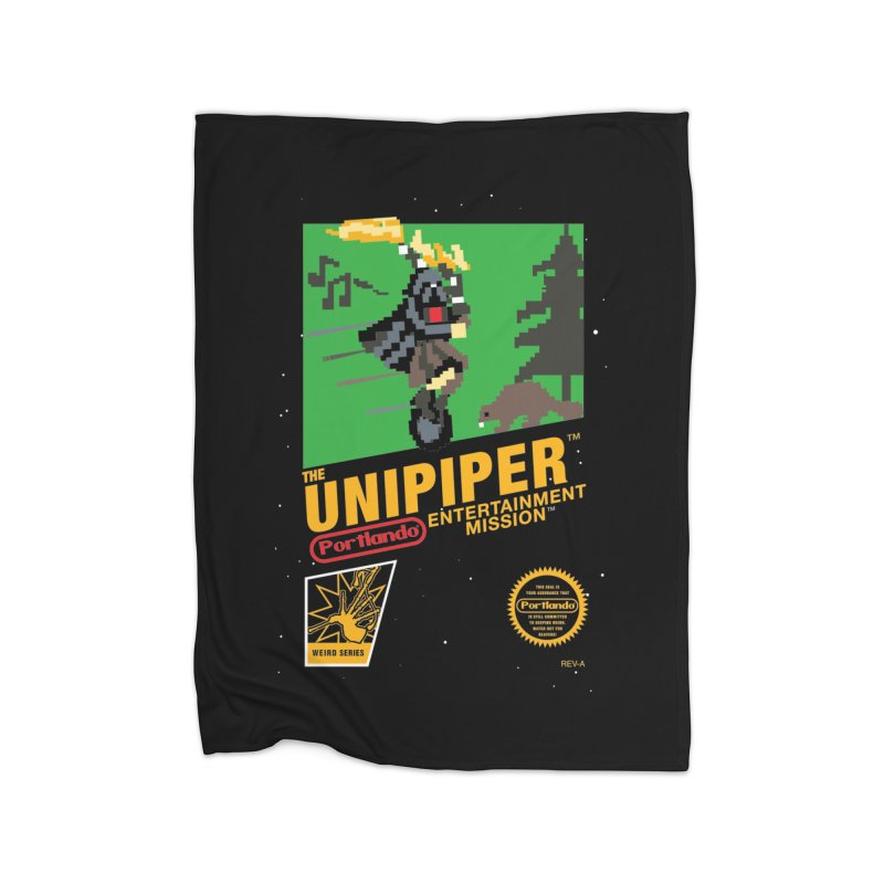 8-bit Retro Unipiper Home Fleece Blanket Blanket by The Official Unipiper Shop!