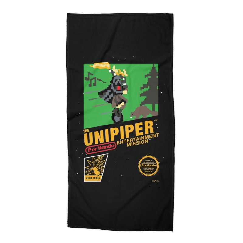8-bit Retro Unipiper Accessories Beach Towel by The Official Unipiper Shop!