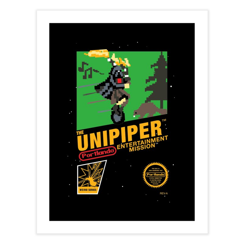 8-bit Retro Unipiper Home Fine Art Print by The Official Unipiper Shop!