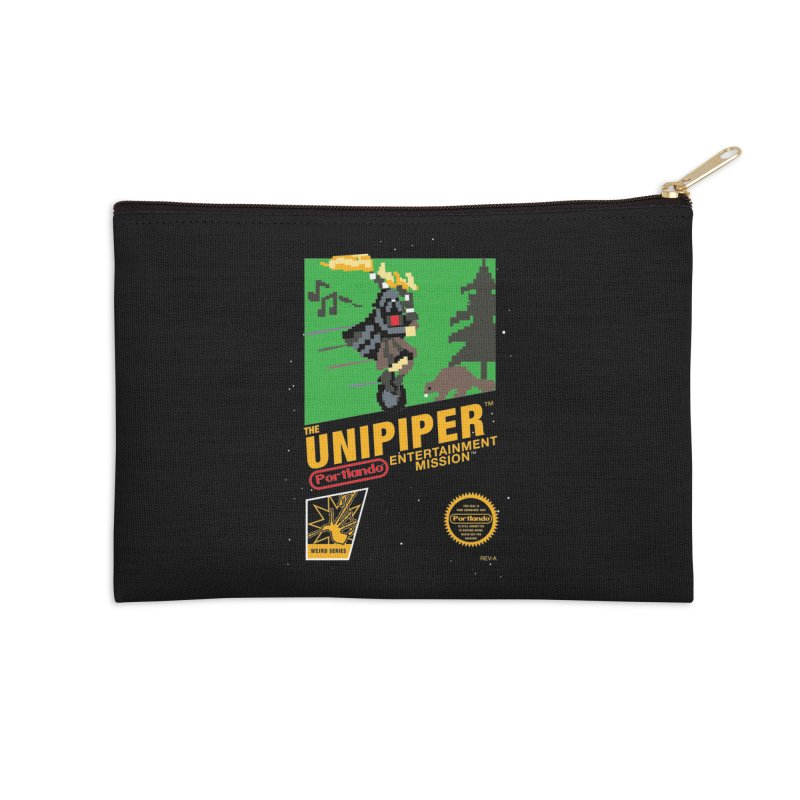 8-bit Retro Unipiper Accessories Zip Pouch by The Official Unipiper Shop!