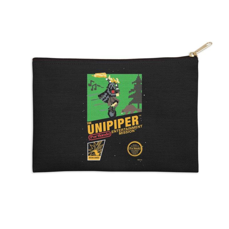 8-bit Retro Unipiper Accessories Zip Pouch by The Official Unipiper Shop