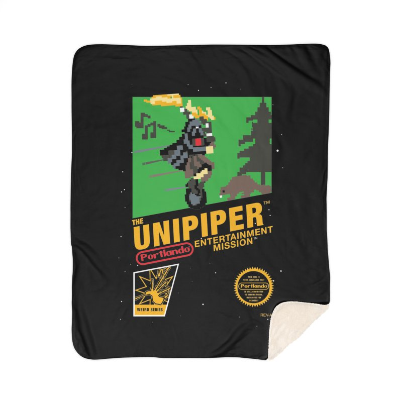 8-bit Retro Unipiper Home Sherpa Blanket Blanket by The Official Unipiper Shop!