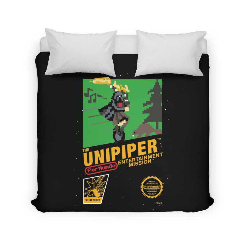 8-bit Retro Unipiper Home Duvet by The Official Unipiper Shop!