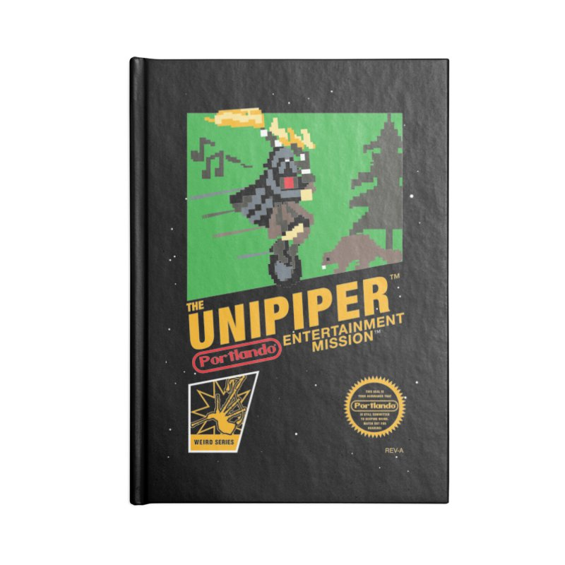 8-bit Retro Unipiper Accessories Lined Journal Notebook by The Official Unipiper Shop!