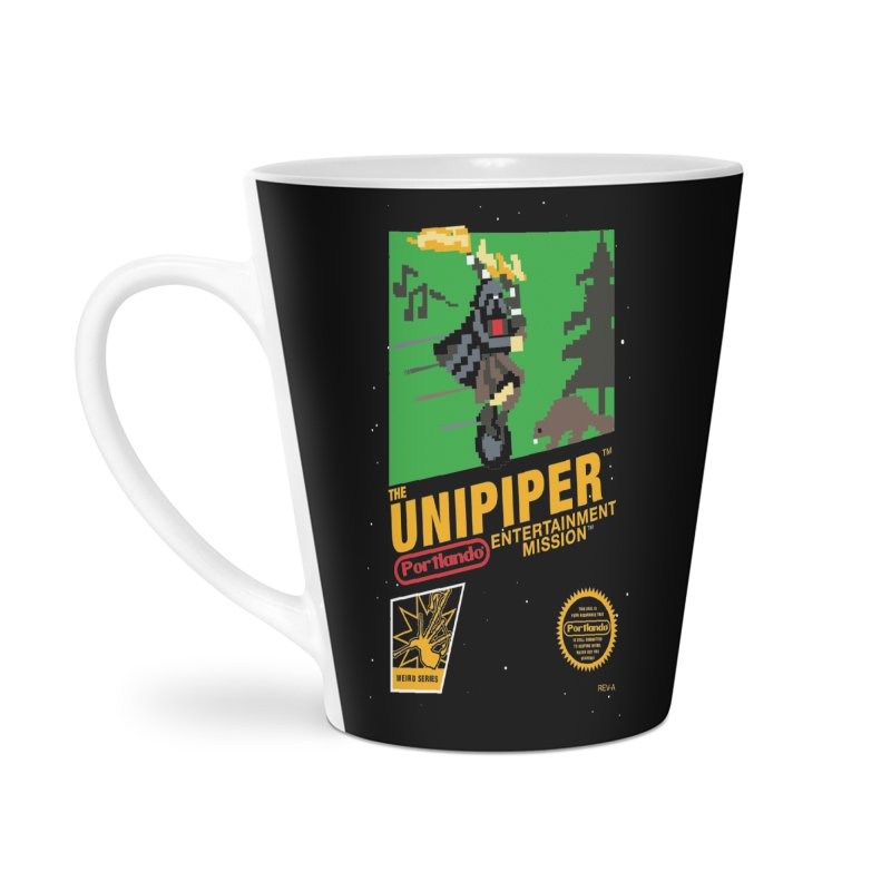 8-bit Retro Unipiper Accessories Latte Mug by The Official Unipiper Shop!