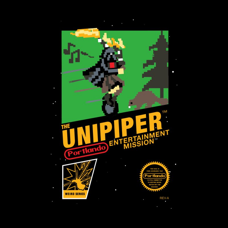 8-bit Retro Unipiper Women's Zip-Up Hoody by The Official Unipiper Shop