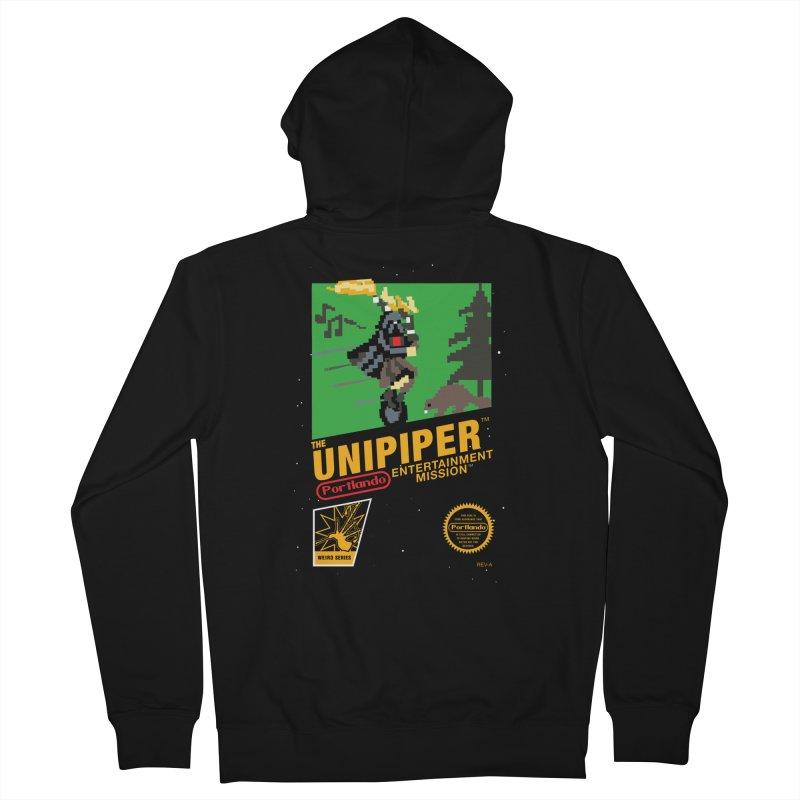 8-bit Retro Unipiper Men's Zip-Up Hoody by The Official Unipiper Shop!