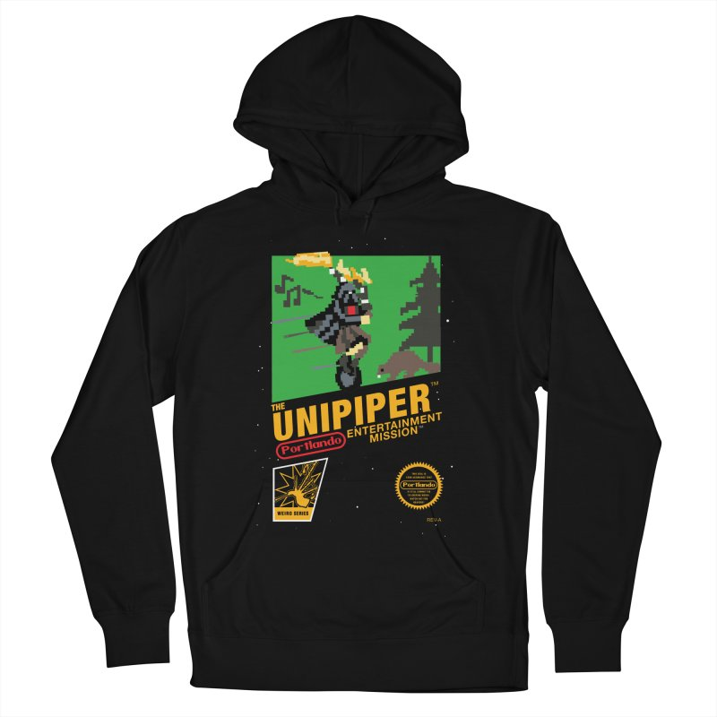 8-bit Retro Unipiper Men's French Terry Pullover Hoody by The Official Unipiper Shop!