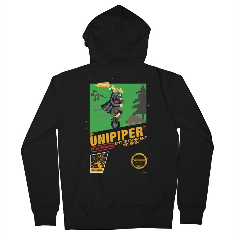 8-bit Retro Unipiper Women's French Terry Zip-Up Hoody by The Official Unipiper Shop!