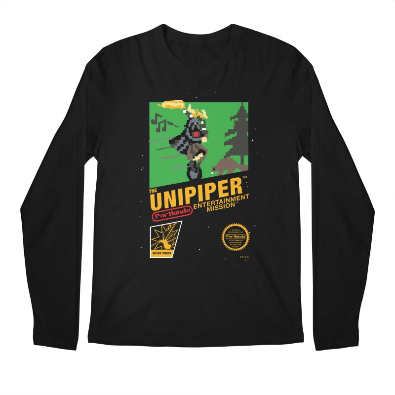 8-bit Retro Unipiper Men's Regular Longsleeve T-Shirt by The Official Unipiper Shop!
