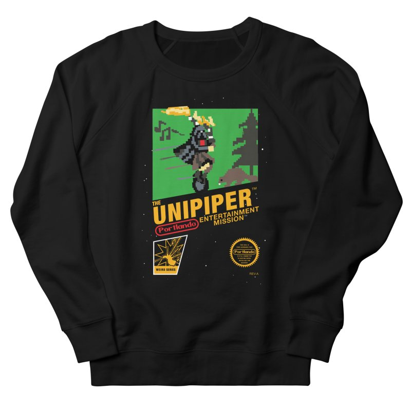 8-bit Retro Unipiper Men's French Terry Sweatshirt by The Official Unipiper Shop!