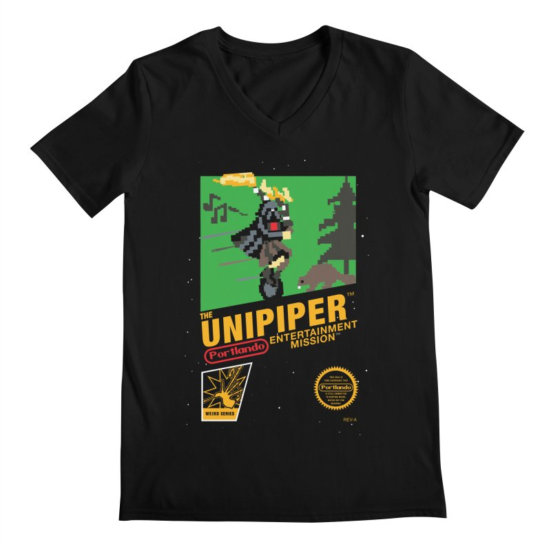 8-bit Retro Unipiper Men's V-Neck by The Official Unipiper Shop!