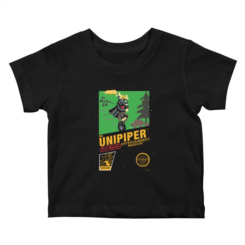 8-bit Retro Unipiper Kids Baby T-Shirt by The Official Unipiper Shop