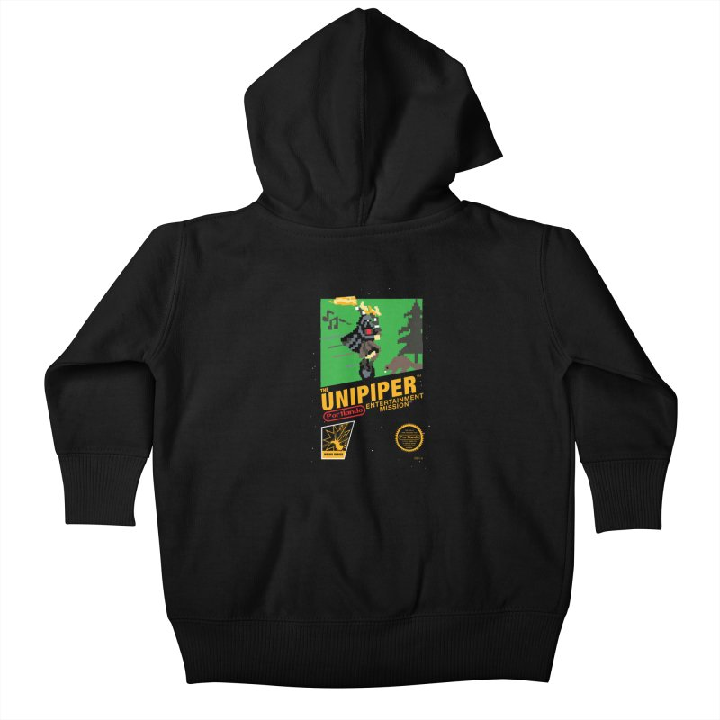 8-bit Retro Unipiper Kids Baby Zip-Up Hoody by The Official Unipiper Shop!