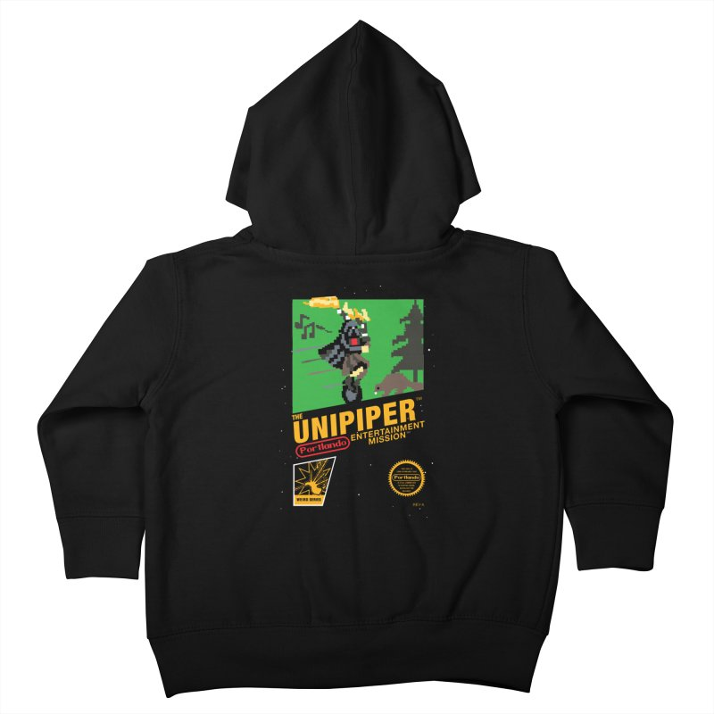 8-bit Retro Unipiper Kids Toddler Zip-Up Hoody by The Official Unipiper Shop!
